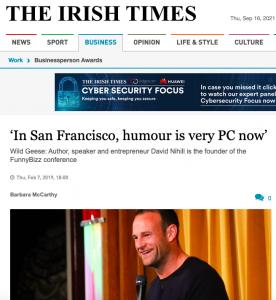 Irish Times Feature Piece