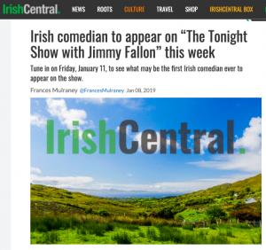 Irish Central Article