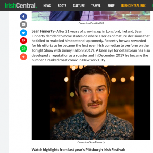 Irish Central Pittsburgh Article
